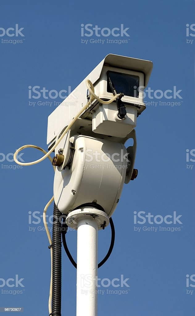 CCTV Security Camera, beware of Big Brother royalty-free stock photo