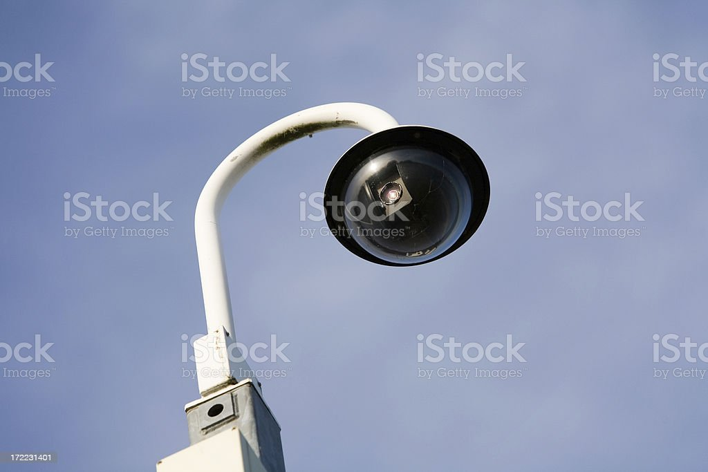 Security camera disguised as a street lamp royalty-free stock photo