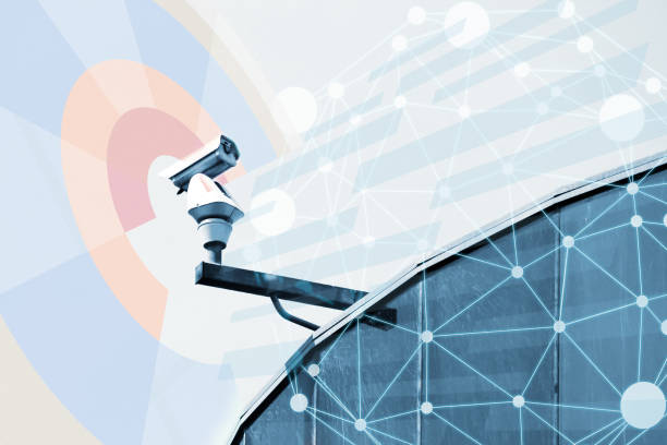 security camera for monitoring everything - big brother orwellian concept stock pictures, royalty-free photos & images