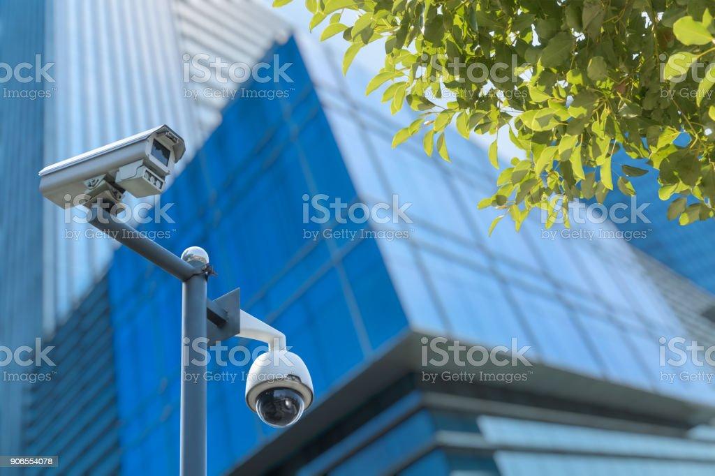 Security camera voor het kantoorgebouw foto