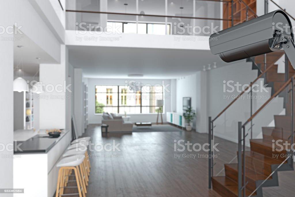 Überwachungskamera im Haus – Foto
