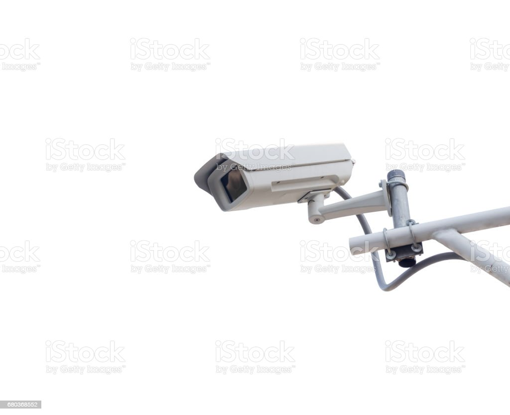 security camera isolated on white background royalty-free stock photo