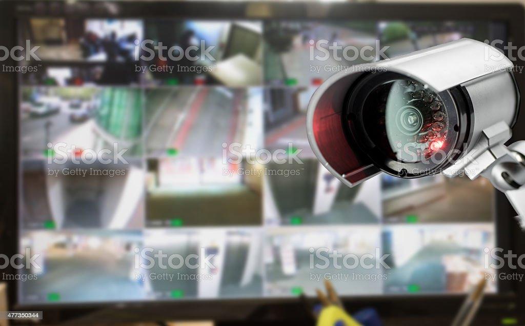 Videoüberwachung Sicherheit Kameras überwachen im Büro-Gebäude – Foto