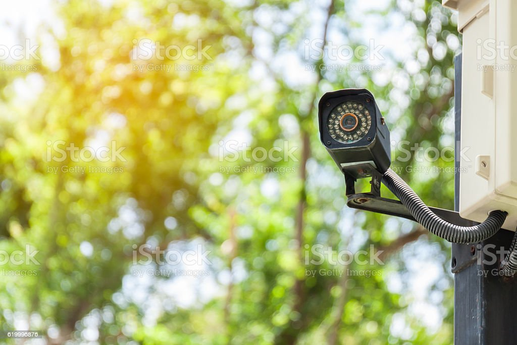Security Camera or CCTV at home stock photo