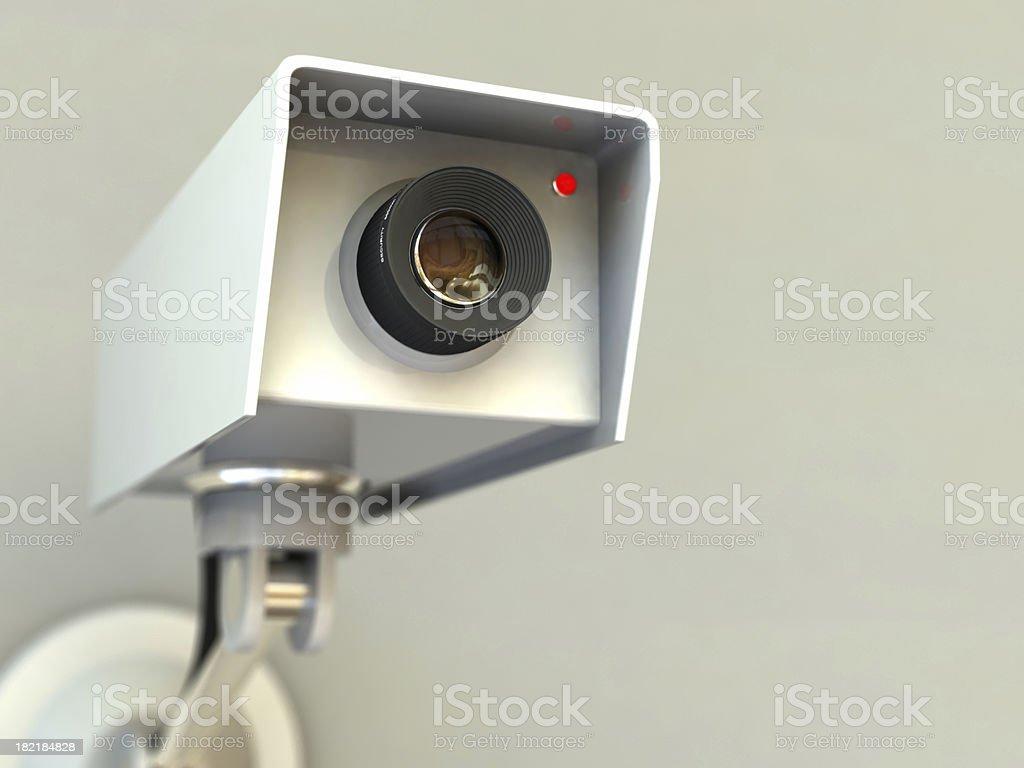 Câmera de circuito interno de TV de segurança - foto de acervo