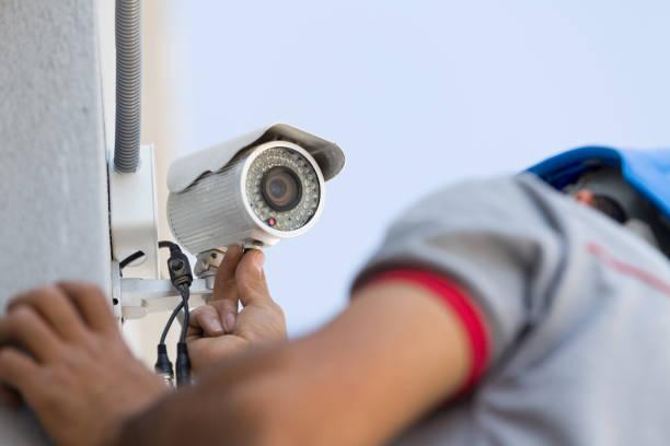 paramètre de caméra de sécurité - installer photos et images de collection