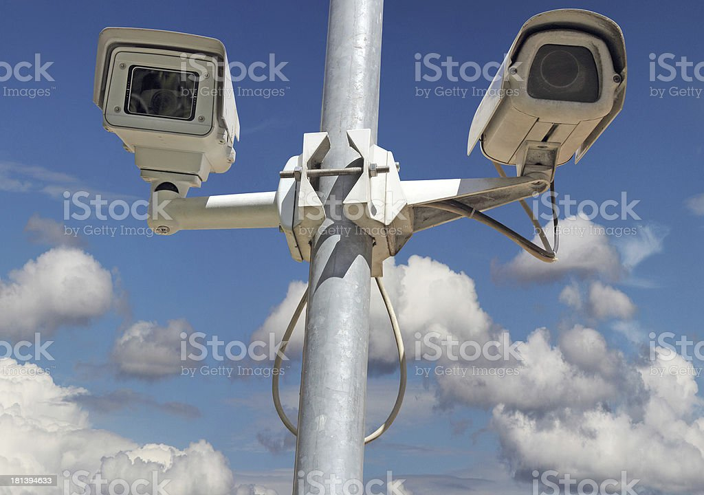 Security cameras royalty-free stock photo