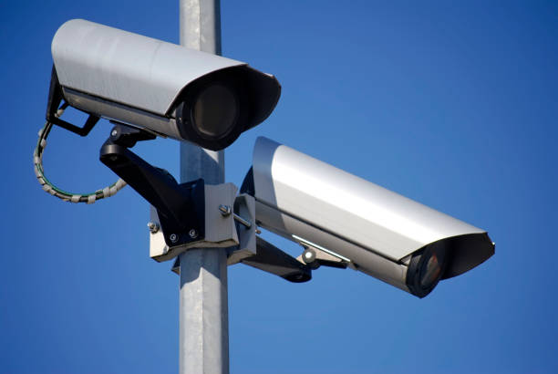 CCTV - Security cameras - Video surveillance stock photo