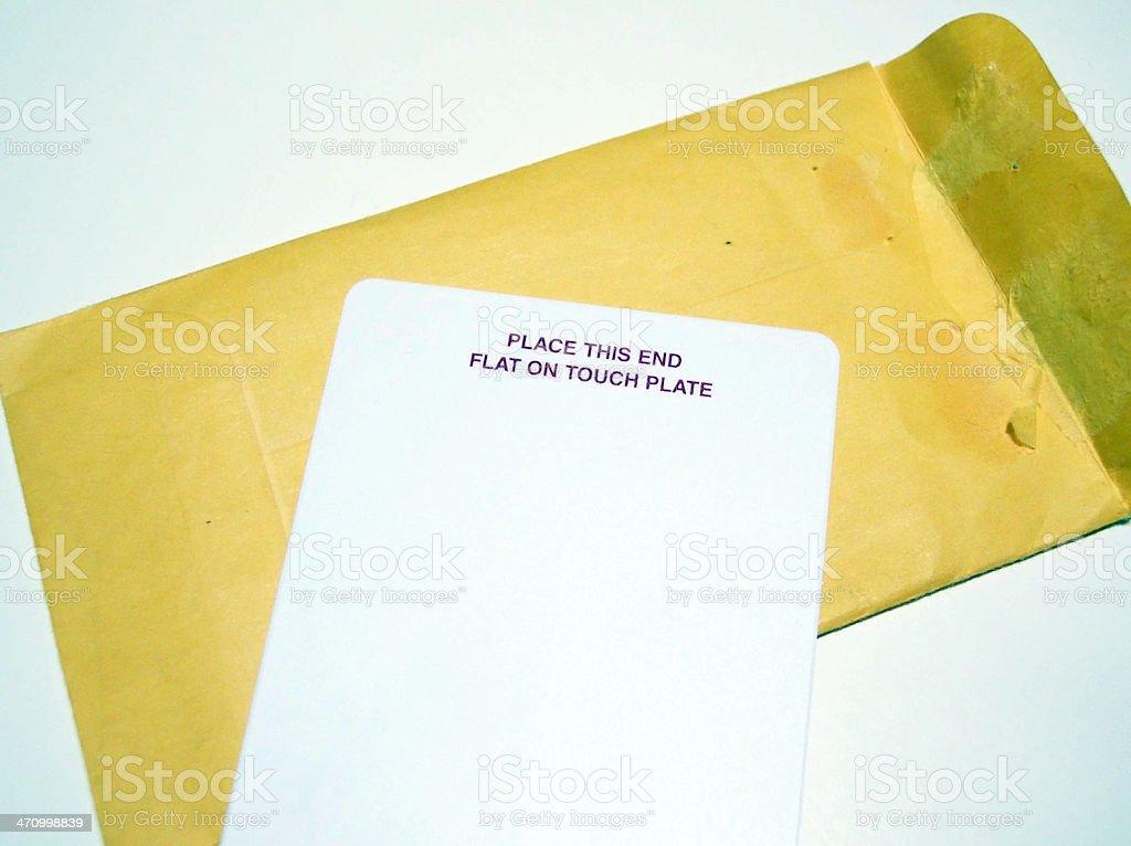 Security Card Macro royalty-free stock photo