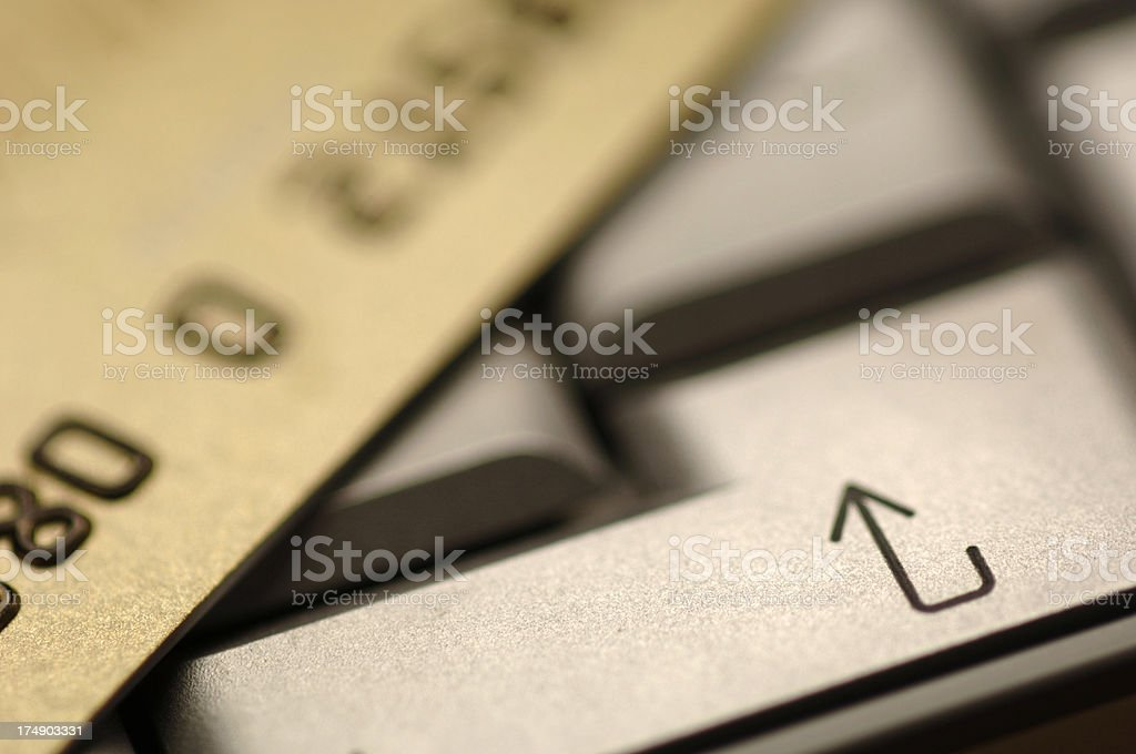 security card on keyboard royalty-free stock photo