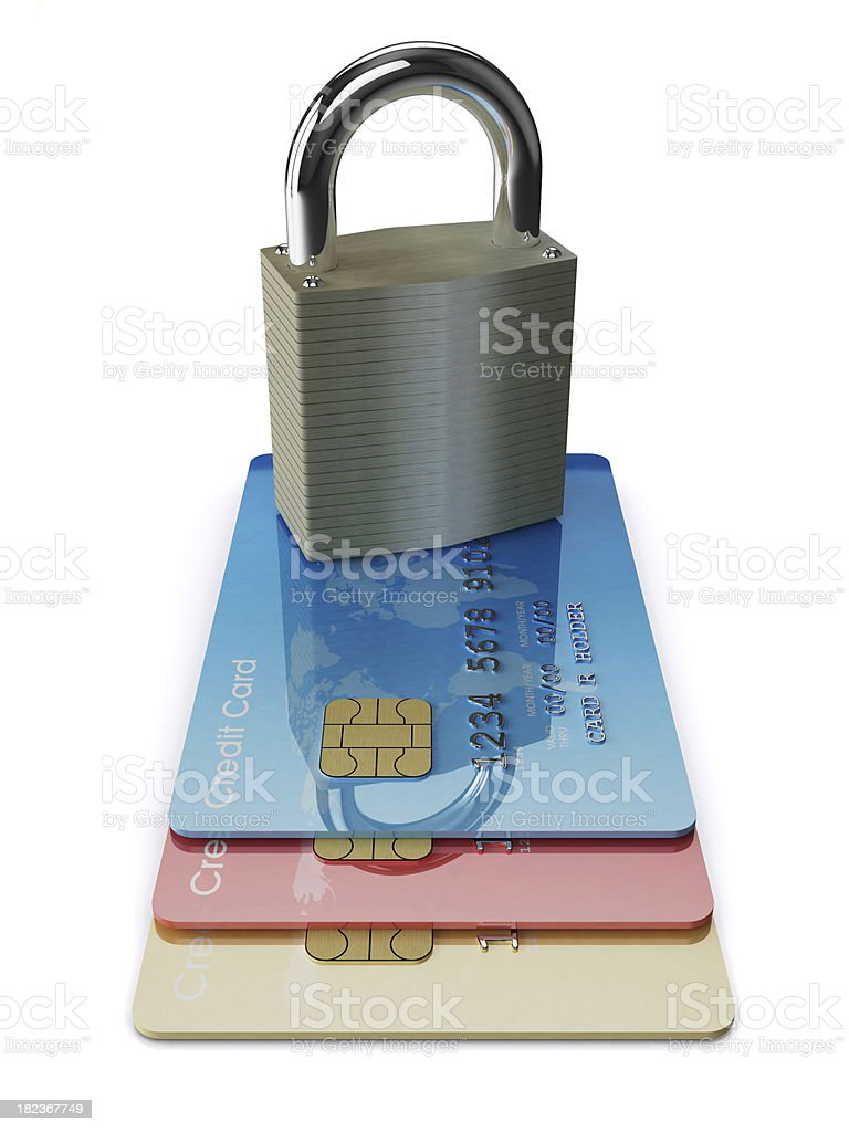 Security Cards royalty-free stock photo