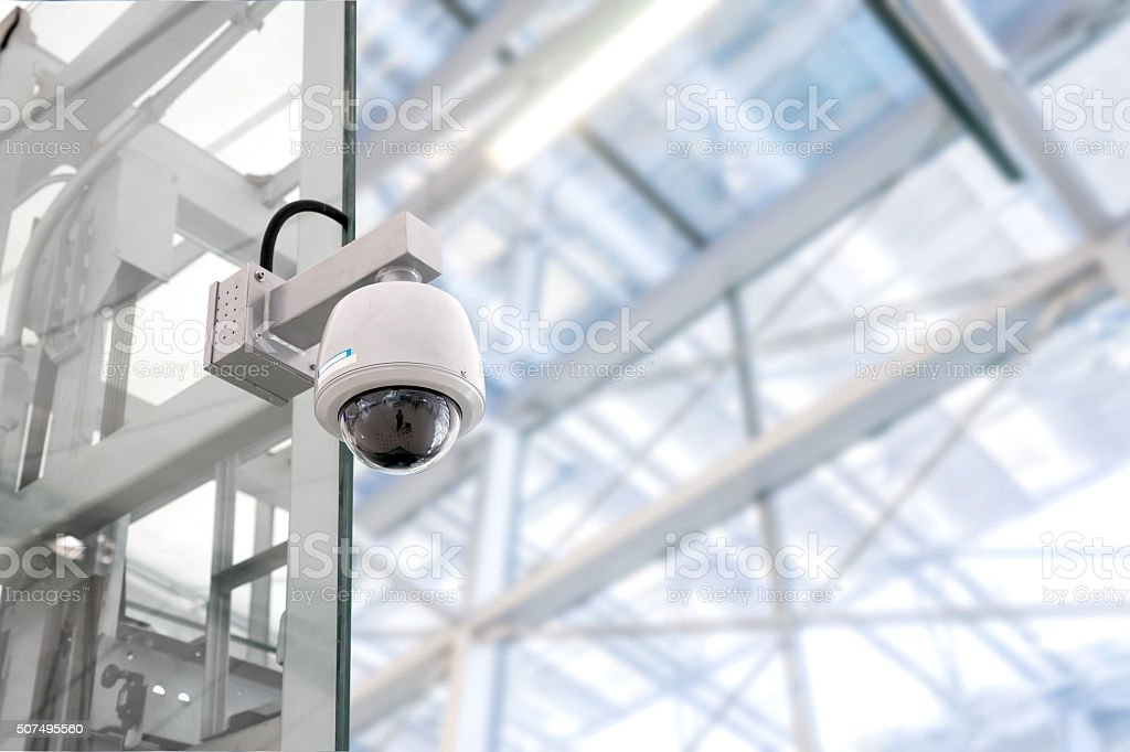Security CCTV camera stock photo
