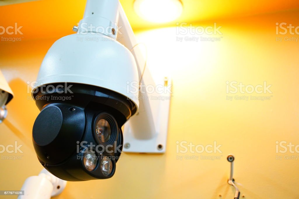 Security CCTV camera royalty-free stock photo