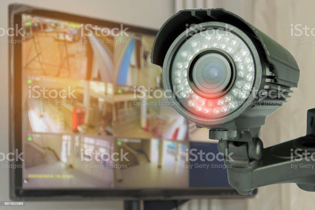CCTV bewakingscamera foto
