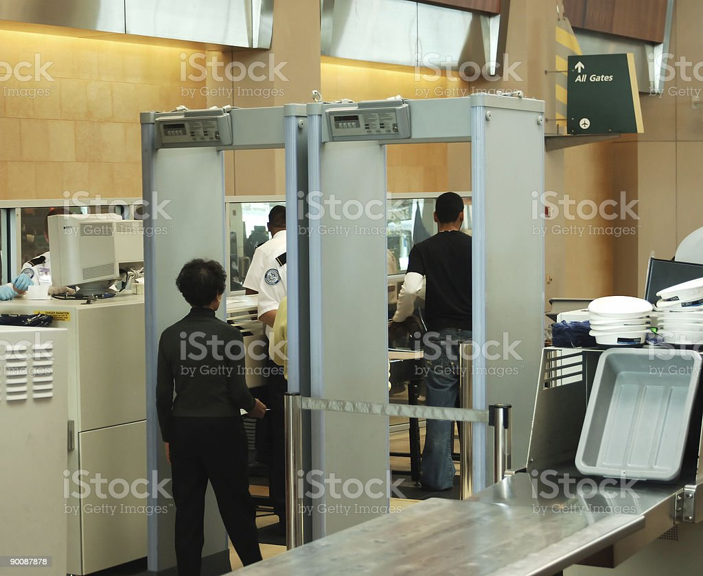 security check stock photo