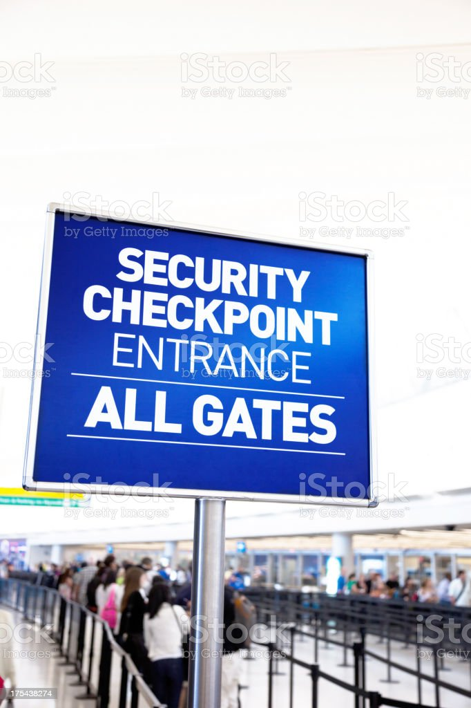 Security checkpoint for airport security stock photo