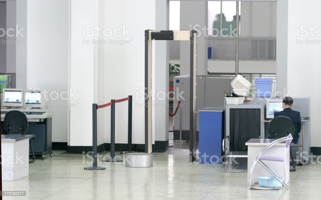 Security Checkpoint royalty-free stock photo