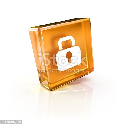 istock security closed lock glossy 3D icon 1178383446