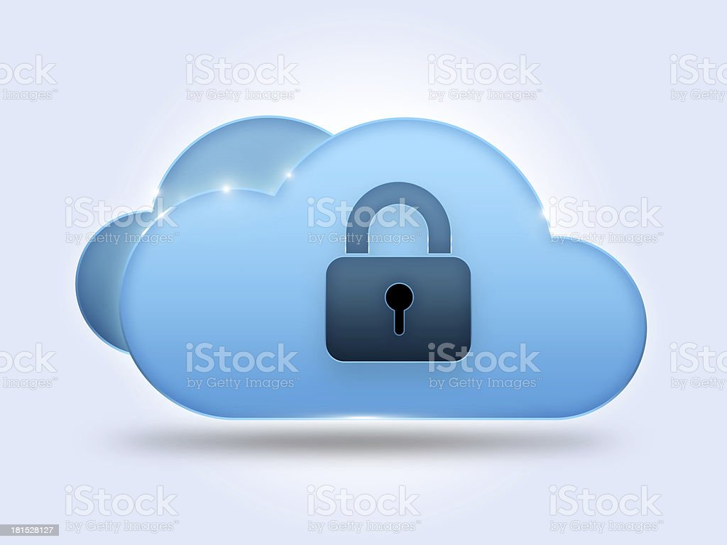 Security cloud computing concept royalty-free stock photo