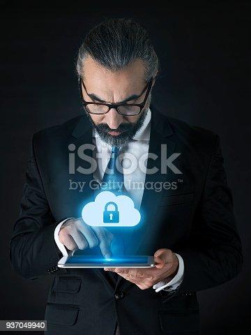 istock Security cloud concept 937049940