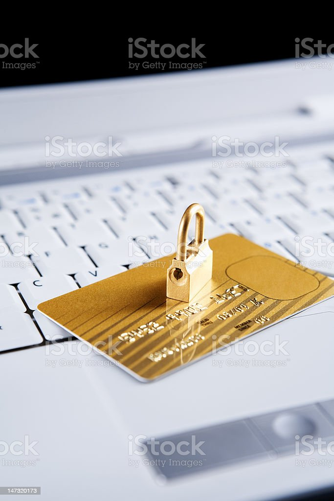 Security concept for online transaction royalty-free stock photo