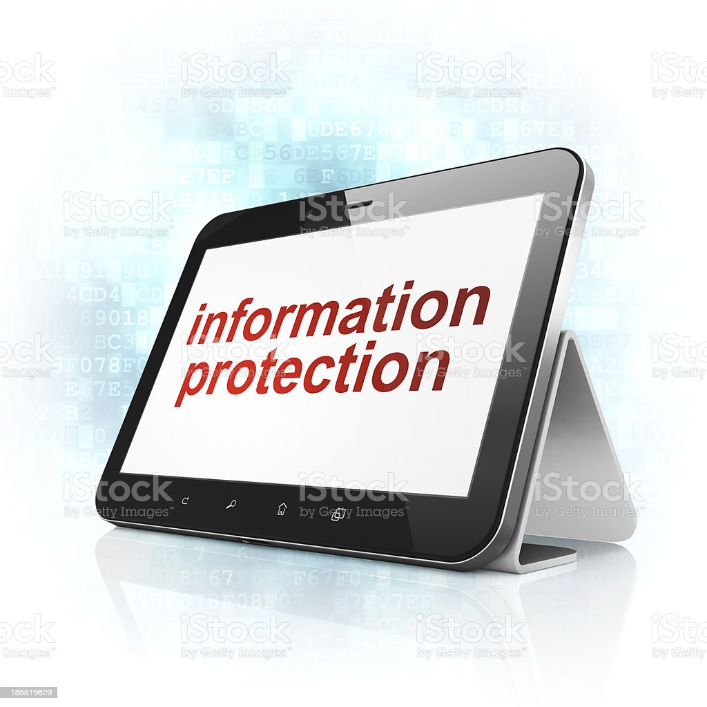 Security concept: Information Protection on tablet pc computer royalty-free stock photo