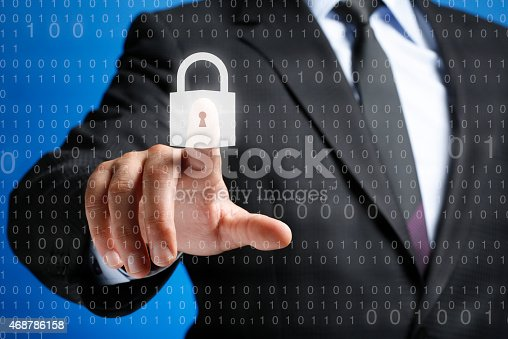 istock Security Concept on Interface Touch Screen 468786158