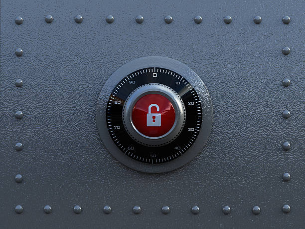 Security concept Combination lock with steel background. Security concept... safes and vaults stock pictures, royalty-free photos & images