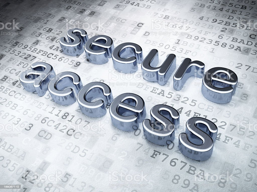 Security concept: silver secure access on digital background royalty-free stock photo