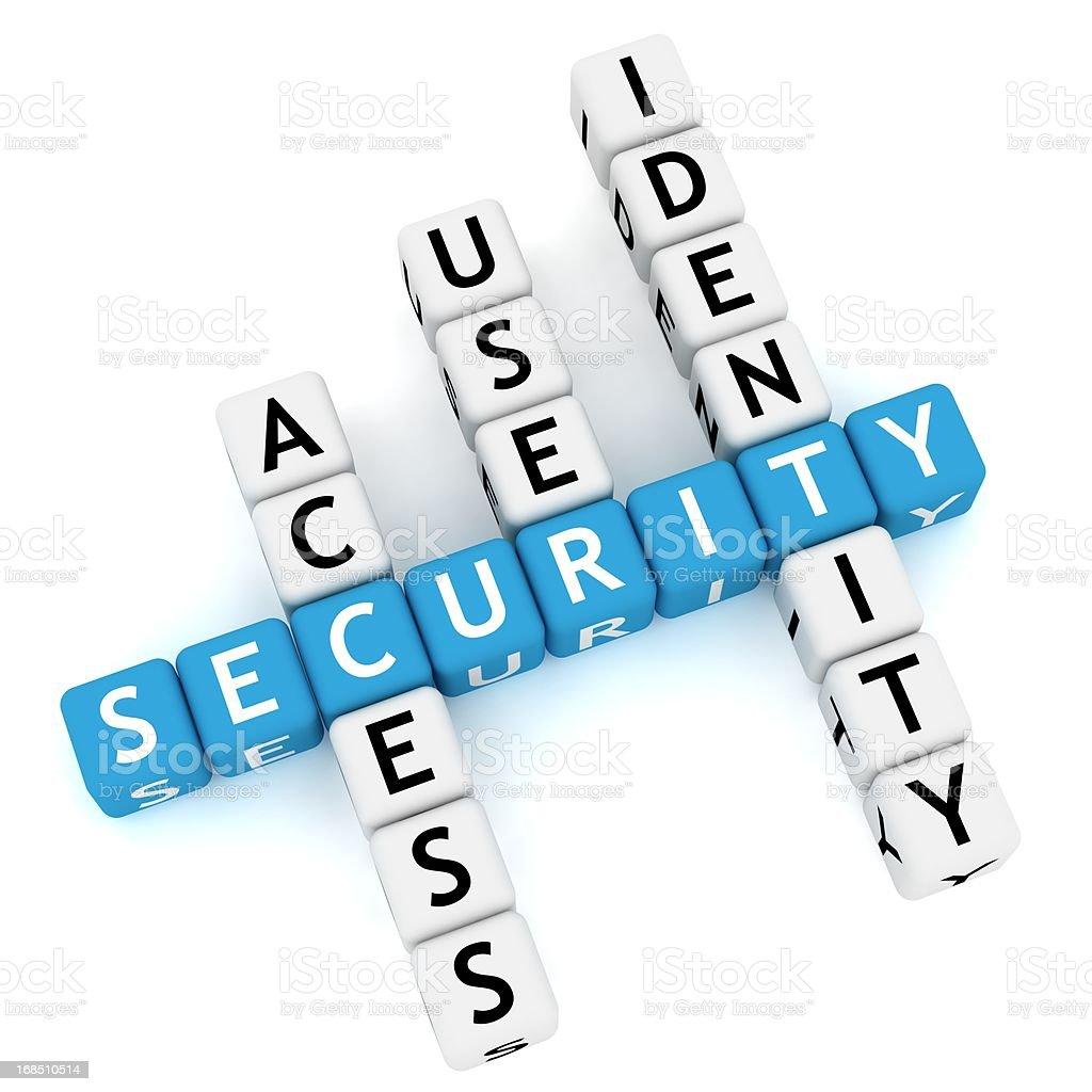 Security Crossword royalty-free stock photo