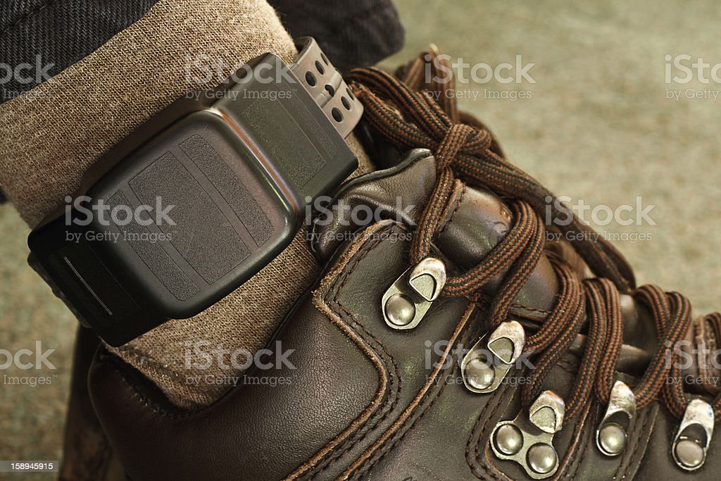 security electronic tagging stock photo