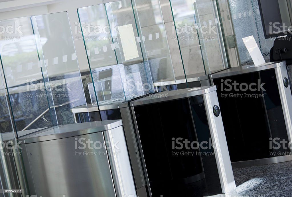 Security entrance stock photo
