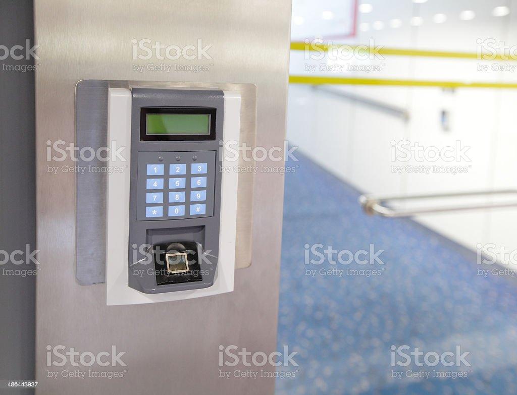 Security entrance stock photo