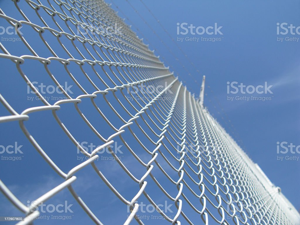 Security fence. stock photo