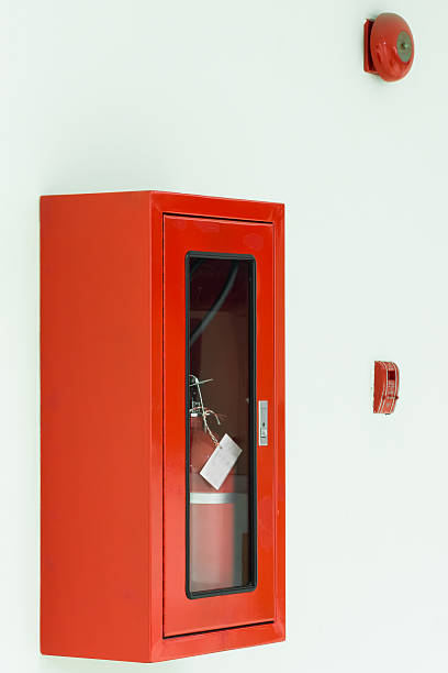 Security fire system stock photo