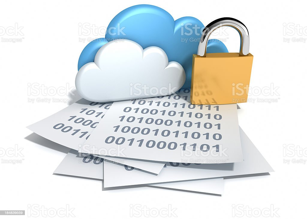 Security for Cloud Computing. royalty-free stock photo