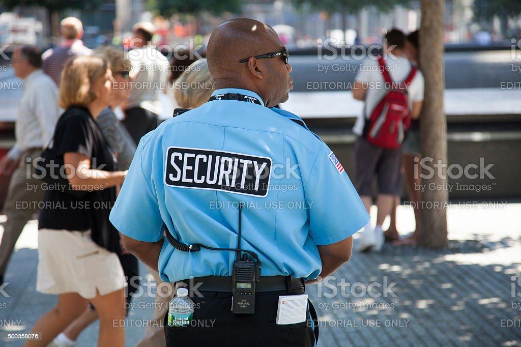 Agent de sécurité au Mémorial du 11-Septembre - Photo
