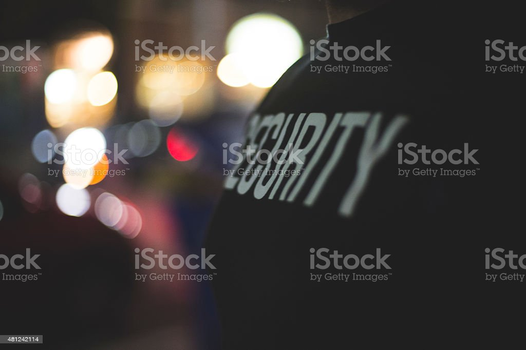 Security Guard at Door stock photo