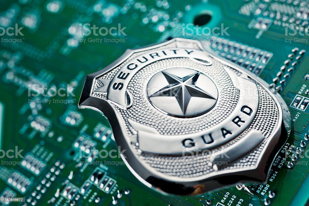 security guard badge Conceptual image for security. Accessibility Stock Photo