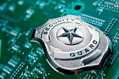 Security Guard Badge Stock Photo - Download Image Now