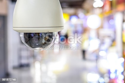 CCTV security guard in the mall building.