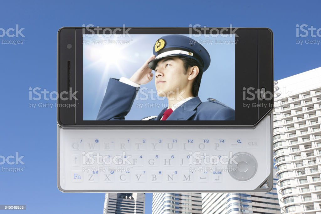 Security guards stock photo