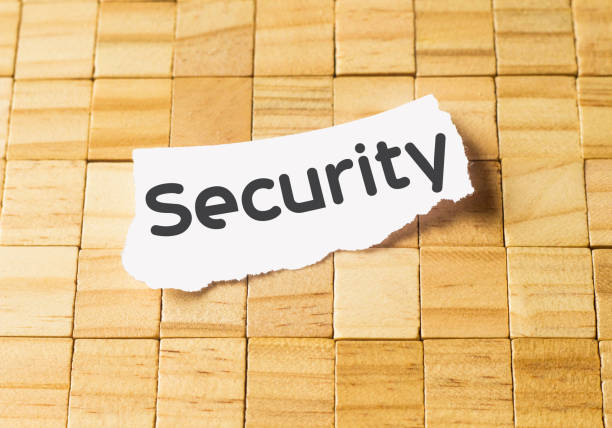 security in small paper stock photo