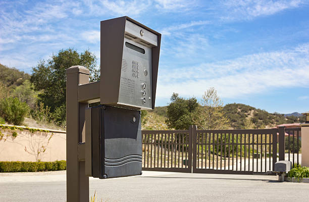 Security Intercom Gated security intercom in a rural community gated community stock pictures, royalty-free photos & images