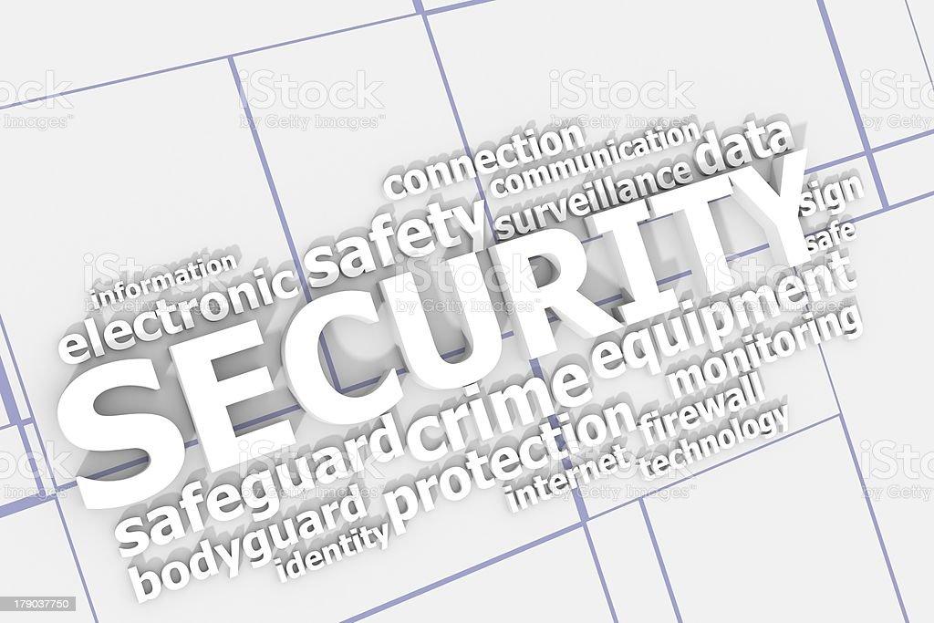 Security keywords royalty-free stock photo