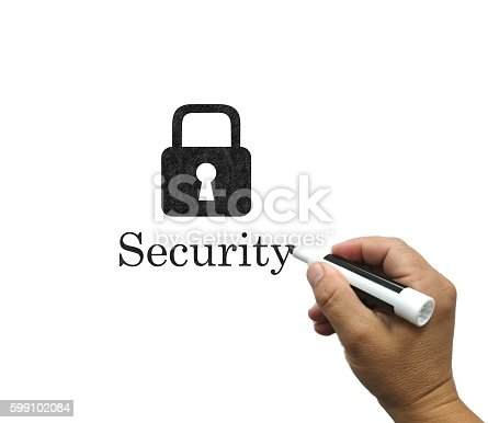 957759714istockphoto Security lock whiteboard drawing concept 599102084