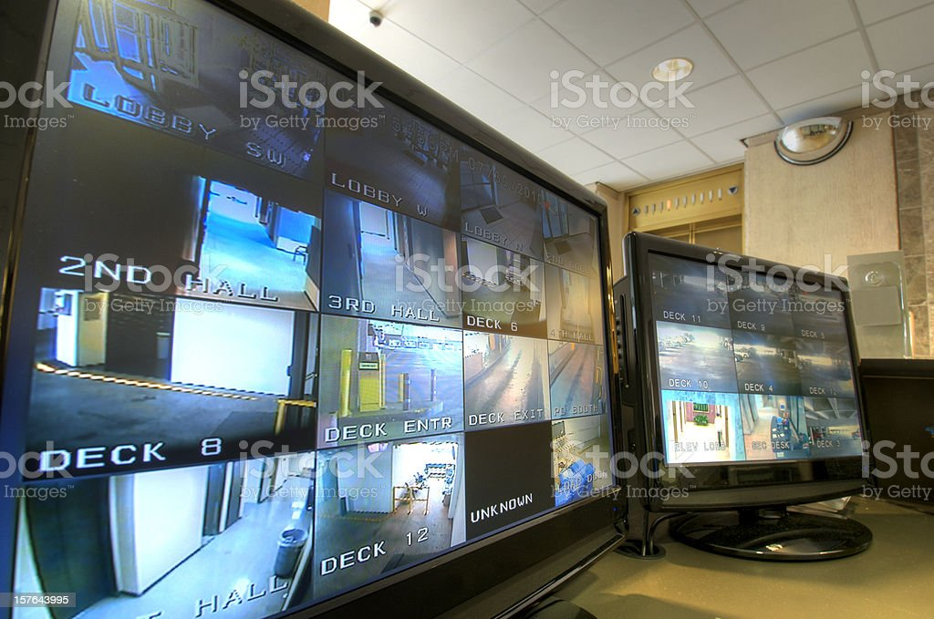 Security Monitoring Station stock photo