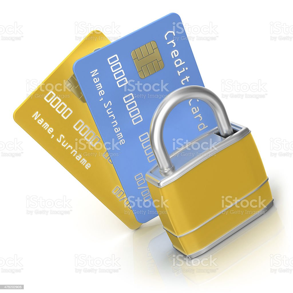 Security of Bank Cards royalty-free stock photo