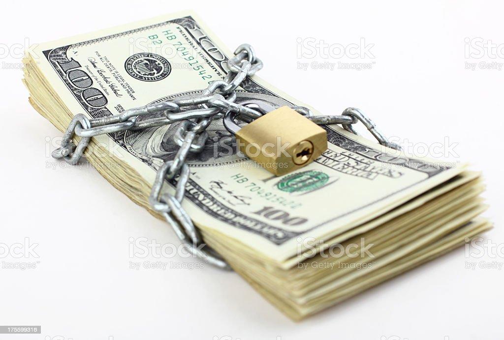 Security of money stock photo