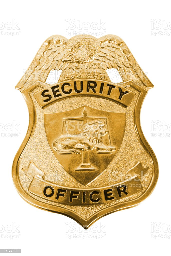 Security Officer Badge stock photo